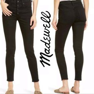 """⚡️SALE⚡️Madewell 9"""" Mid-Rise Skinny Jeans in Black"""
